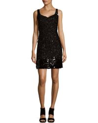 Adrianna Papell - Embellished Shift Dress - Lyst