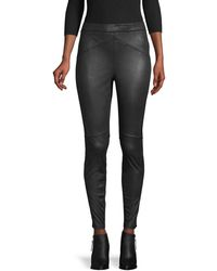 Free People Stretch Faux Leather Leggings - Black