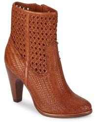 Frye - Celeste Woven Leather Booties - Lyst