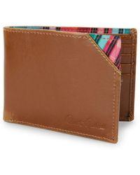 Robert Graham - Brighton Slim Leather Bi-fold Wallet - Lyst