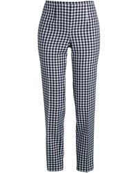 Michael Kors Gingham Side-zip Wool-blend Pants - Black