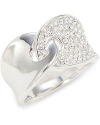 Swarovski Guardian White Rhodium Plated Crystal Ring - Multicolor