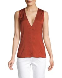 Ava & Aiden Knotted Back Sleeveless Top - Red