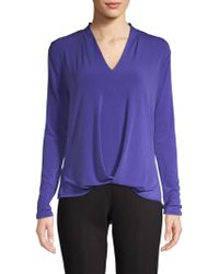 Kenneth Cole - V-neck High-low Top - Lyst