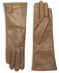 Portolano Slip-on Leather Gloves - Natural