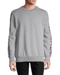 Paul Smith Floral Embroidery Sweatshirt - Grey
