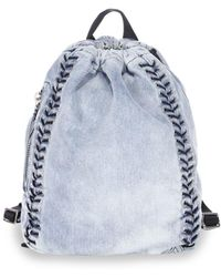 3.1 Phillip Lim - Go-go Medium Washed Denim Backpack - Lyst