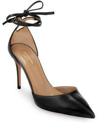 c0eabe1ae73 Aquazzura - Heart Breaker D orsay Ankle Tie Pumps - Lyst