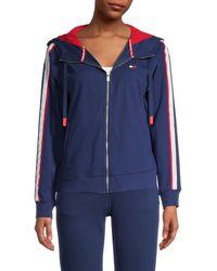 Tommy Hilfiger Drop Shoulder Zip Jacket - Blue