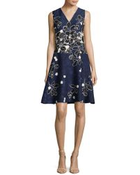 Karl Lagerfeld - Floral Fit-&-flare Dress - Lyst
