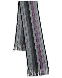 Missoni Multicolour Stripe Scarf - Black