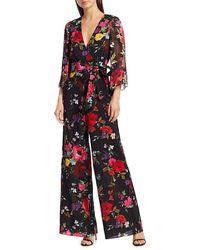 Alice + Olivia Rowley Floral Jumpsuit - Black