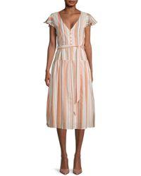 Lost + Wander Women's City To Country Cotton Midi Dress - Orange - Size M