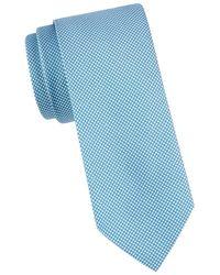 BOSS by Hugo Boss Men's Diamond Silk Blend Tie - Blue