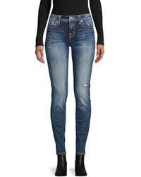 Miss Me Skinny-fit Distressed Jeans - Blue