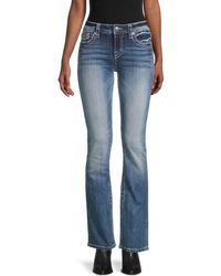 Miss Me Chloe Embellished Bootcut Jeans - Blue