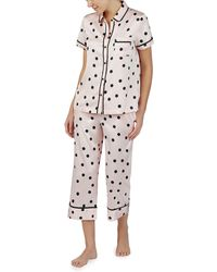 Kate Spade Polka Dot Short-sleeve Pyjama Set - Pink