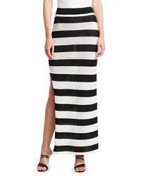 Dodo Bar Or Margaret High-rise Striped Cotton Skirt - Black