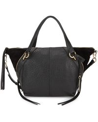 Vince Camuto - Winged Leather & Suede Satchel - Lyst