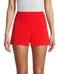 Alice + Olivia High-waist Shorts - Red