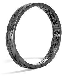 John Hardy - Chain Modern Sterling Silver Hinge Bangle - Lyst