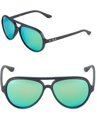 Ray-Ban 59mm Cats 5000 Mirrored Sunglasses - Black