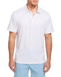 Vineyard Vines Men's Performance Printed Sankaty Polo T-shirt - White Multi - Size S