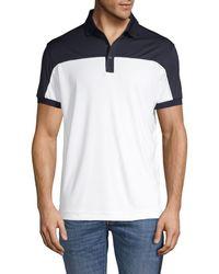 J.Lindeberg Colorblock Short-sleeve Polo - White