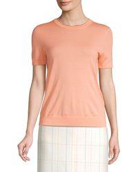 BOSS by Hugo Boss Falyssa Virgin Wool Short-sleeve Knit Jumper - Multicolour