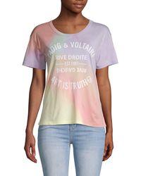Zadig & Voltaire Marta Tie-dye T-shirt - Purple