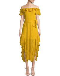 Marissa Webb Sofia Embroidered Dress - Yellow