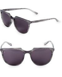 Smoke X Mirrors 53mm Aviator Sunglasses - Gray