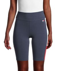 Tommy Hilfiger High-rise Jersey Bike Shorts - Blue