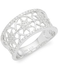 KC Designs - Diamonds & 14k White Gold Band Ring - Lyst