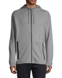 PUMA Men's Drawstring Hooded Jacket - Gray - Size M