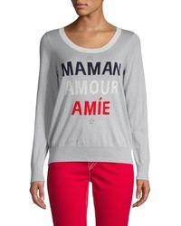 Chaser Graphic Cotton & Cashmere-blend Sweatshirt - Gray