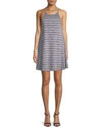 PPLA - Striped Shift Dress - Lyst