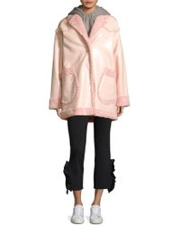Opening Ceremony - Reversible Faux Shearling Coat - Lyst