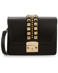 Valentino By Mario Valentino - Benedicte Rockstud Leather Crossbody Bag - Lyst