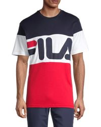 Fila Varius Logo Colorblock T-shirt - Blue