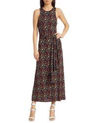 Tanya Taylor Octavia Floral Midi Dress - Black