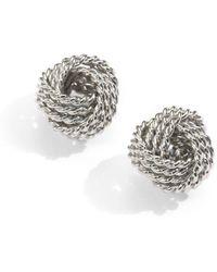 Saks Fifth Avenue - Sterling Silver Twisted Knot Stud Earrings - Lyst