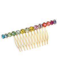 Lelet - Rainbow Spectrum Swarovski Crystal Comb - Lyst
