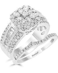 Effy 14k White Gold Diamond Engagement Ring Set - Multicolour