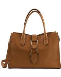 Sam Edelman Top Handle Leather Satchel - Brown