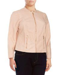 CALVIN KLEIN 205W39NYC Plus Zip Front Jacket - Pink