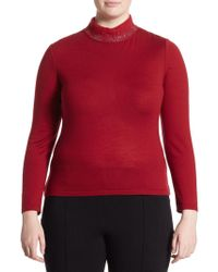 Stizzoli - Plus Long-sleeve Knitted Top - Lyst