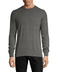 Saks Fifth Avenue Striped Cashmere Sweater - Gray