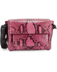 Nancy Gonzalez Python Leather Shoulder Bag - Pink