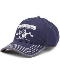 True Religion - Navy Buddha Cap - Lyst